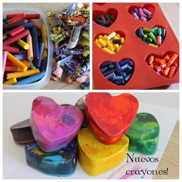 crayones hechos en casa DIY