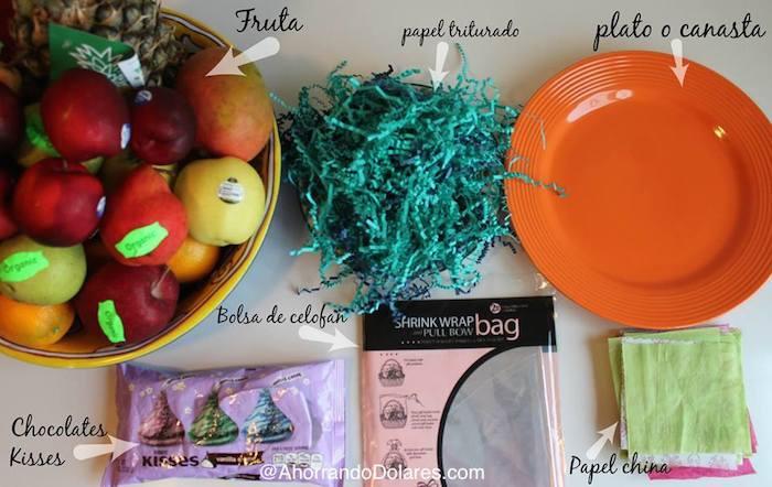 canasta de frutas como hacer