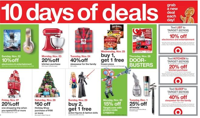 10 days of deals Black Friday