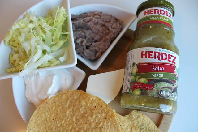 Tostadas mexicanas ingredientes