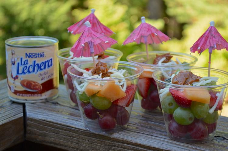 Ensalada de frutas con dulce de leche receta blog