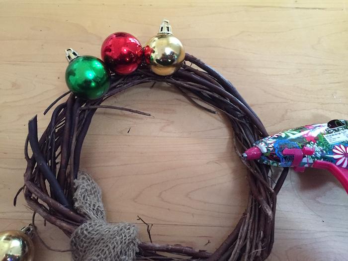 Corona de Navidad para la puerta idea