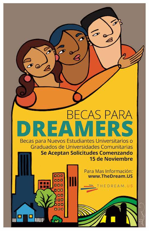 Becas para dreamers estaudiantes indocumentados