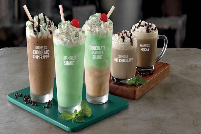 McDonald's Chocolate Shamrock Shake