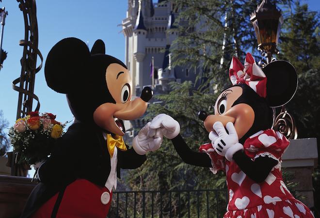 Celebrar San valentin en Disney