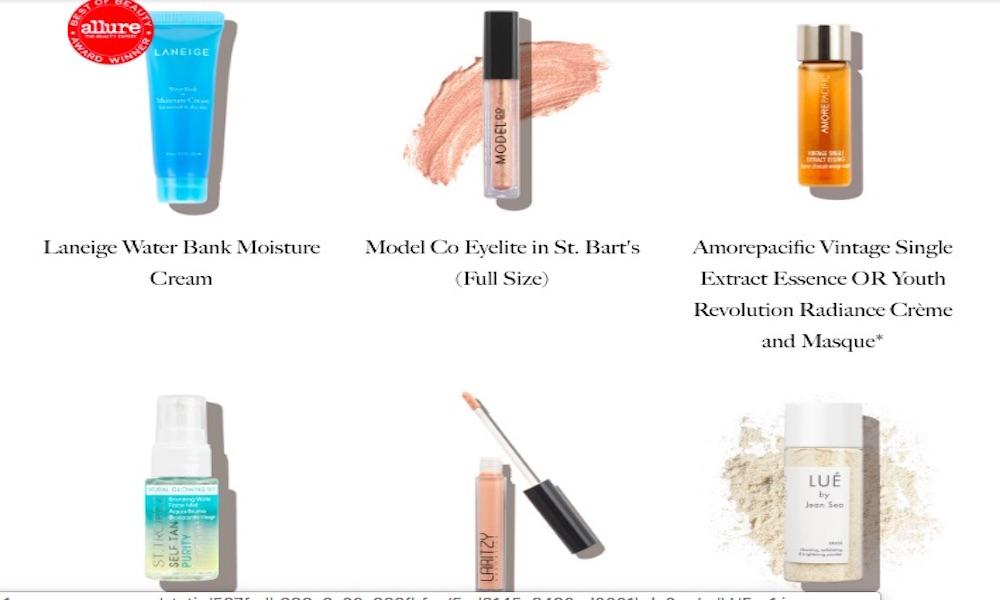 Allure productos de belleza