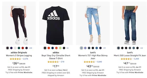 ropa de marca en Amazon