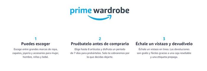 prime wardrobe Amazon como funciona