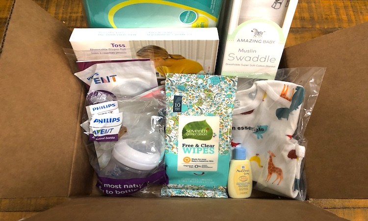 caja productos para bebe gratis