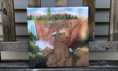 Libro para niños Three Paws' New Family