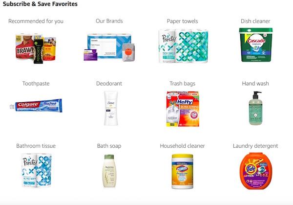 Servicio de Subscribe & Save Amazon Productos